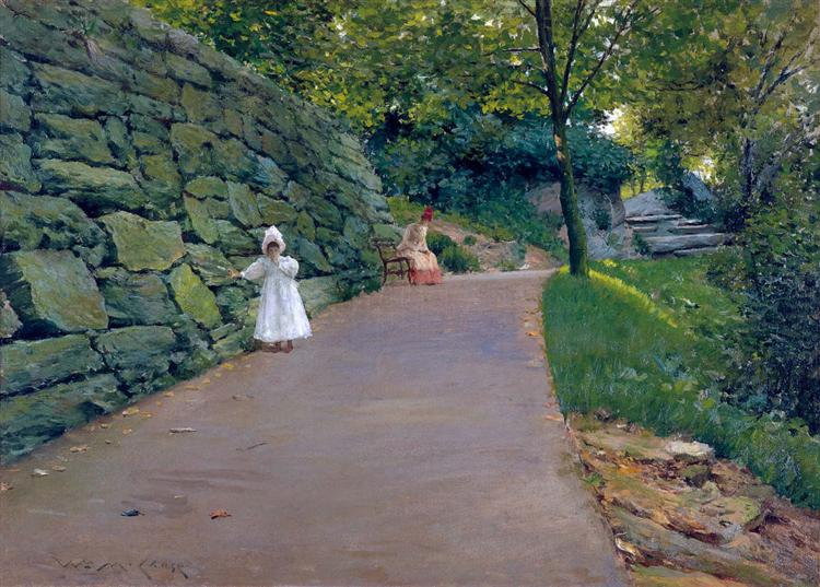 In the Park - a By-Path, c.1890 - William Merritt Chase
