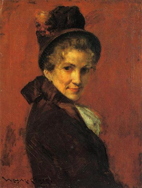 Portrait of a Woman, c.1885 - William Merritt Chase