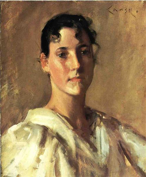 Portrait of a Woman - William Merritt Chase