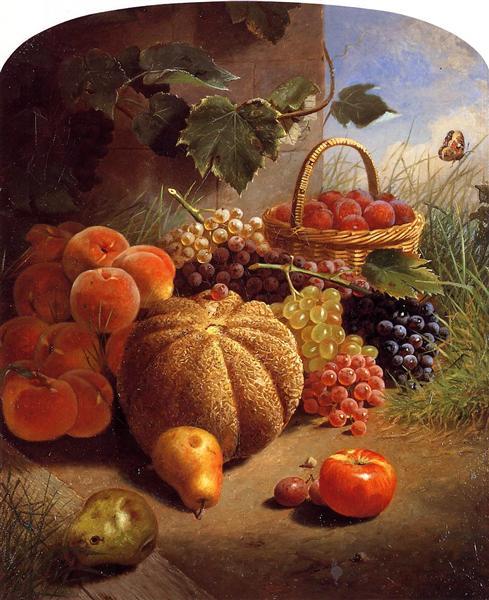 Still Life with Fruit, 1871 - William Merritt Chase