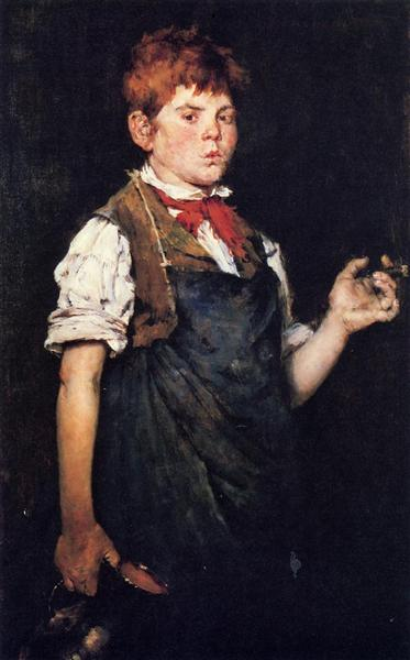 The Apprentice (Boy Smoking), 1875 - William Merritt Chase