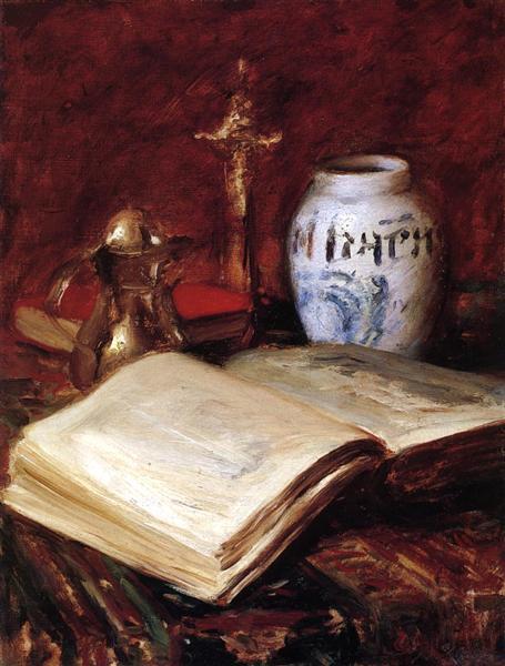 The Old Book, c.1908 - c.1916 - William Merritt Chase