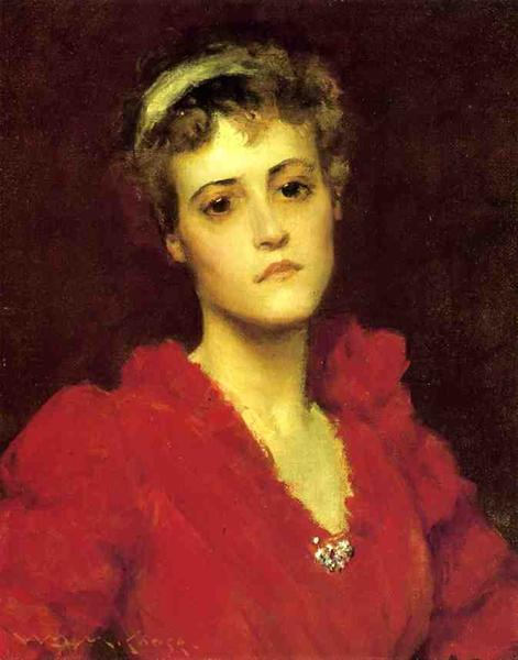 The Red Gown - William Merritt Chase