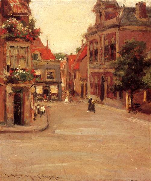 The Red Roofs of Haarlem, aka A Street in Holland, 1903 - William Merritt Chase