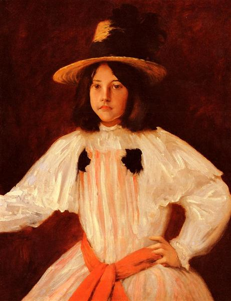 The Red Sash, 1895 - William Merritt Chase