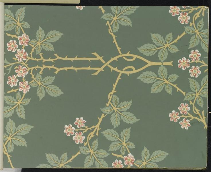 Wallpaper - Blackberry, pattern #388, 1917 - William Morris