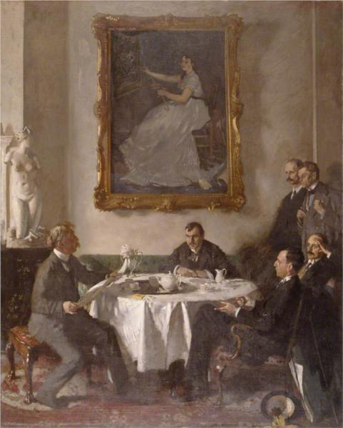 Homage to Manet, 1909 - Вільям Орпен