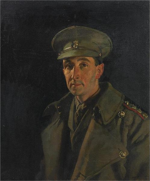 Portrait of Captain Wood of the Royal Inniskilling Fusiliers, 1919 - William Orpen
