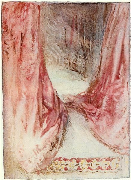 A bed, drapery study - J.M.W. Turner