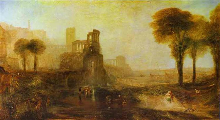 Caligula's Palace and Bridge, 1831 - J.M.W. Turner