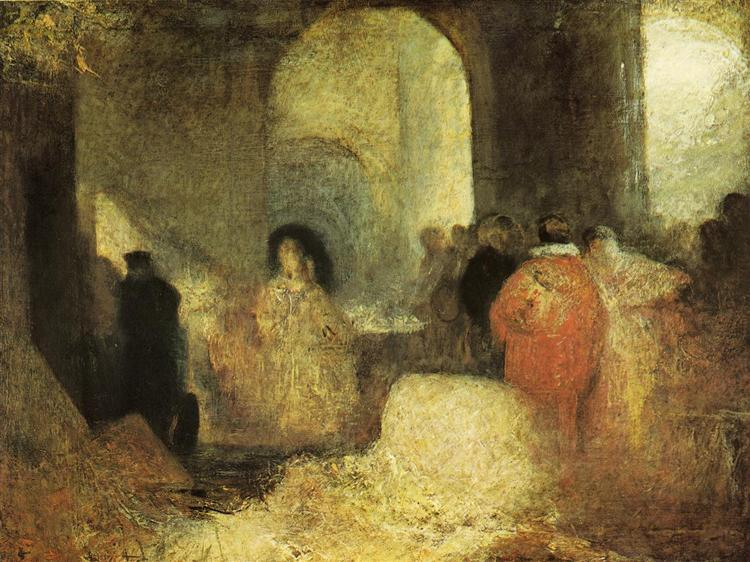Dinner in a Great Room with Figures- in Costume, c.1830 - c.1835 - J.M.W. Turner