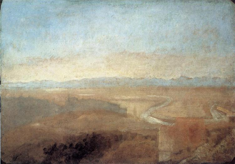 Hill Town on the Edge of the Campagna, c.1828 - J.M.W. Turner