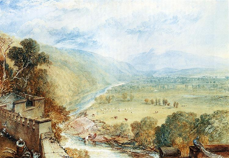 Ingleborough From The Terrace Of Hornby Castle - J.M.W. Turner ...