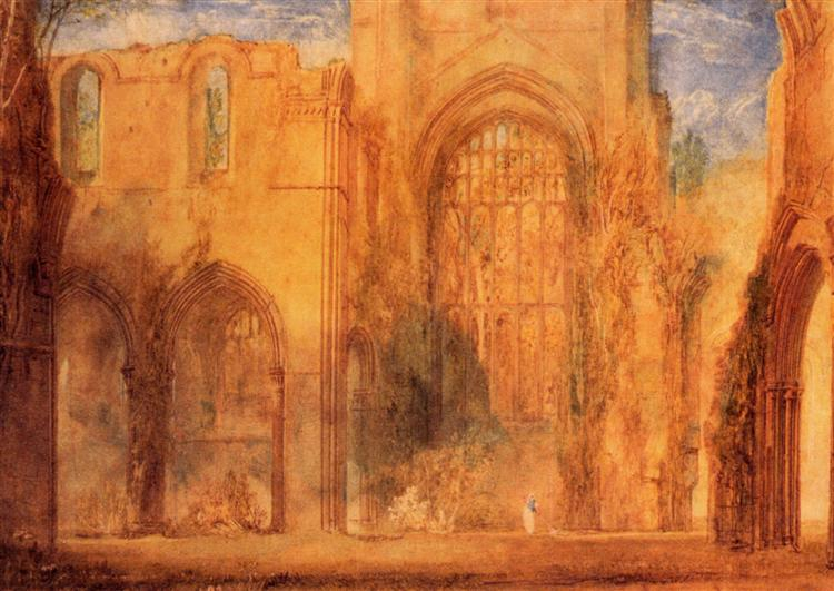 Interior of Fountains Abbey, Yorkshire - J.M.W. Turner
