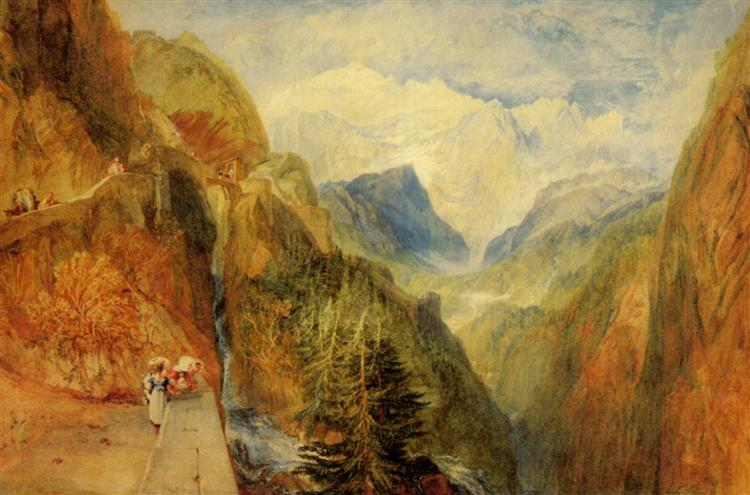 Mont Blanc from Fort Roch, Val D'Aosta - J.M.W. Turner