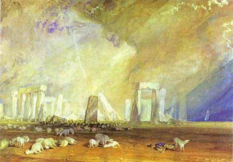 Stonehenge, c.1825 - c.1828 - J.M.W. Turner