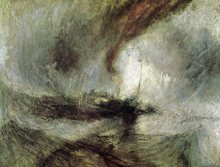 Snow Storm - Steam Boat off a Harbour's Mouth, c.1842 - William Turner