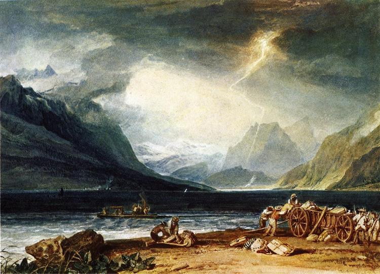 The Lake of Thun, Switzerland, c.1806 - J.M.W. Turner