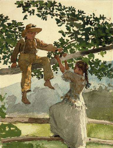 On the Fence - Winslow Homer