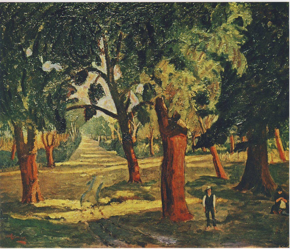 Cork Trees Near Mimizan Churchill Winston Wikiart Org