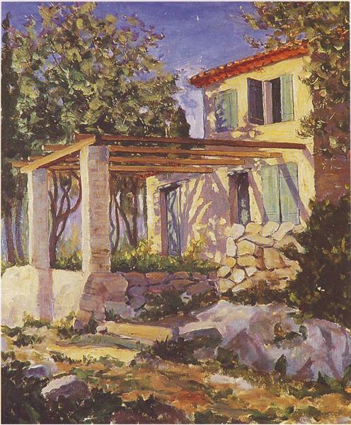 Gardener's Cottage at Mme Balsan's House - Winston Churchill