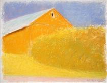 Orange Barn - Wolf Kahn