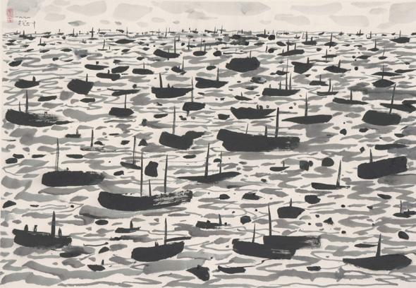 A Fishing Harbour, 1991 - Wu Guanzhong