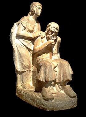 Oedipus and Antigone - Yannoulis Chalepas