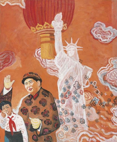 Mao and the Statue of Liberty, 1995 - Yu Youhan