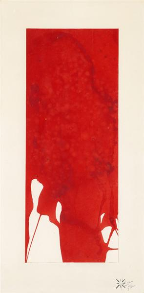 Monochrome Red Untitled, 1957 - Yves Klein