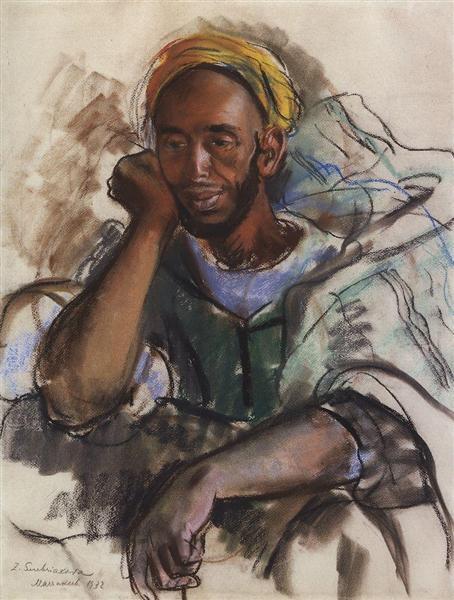 Moroccan in Green, 1932 - Зінаїда Серебрякова