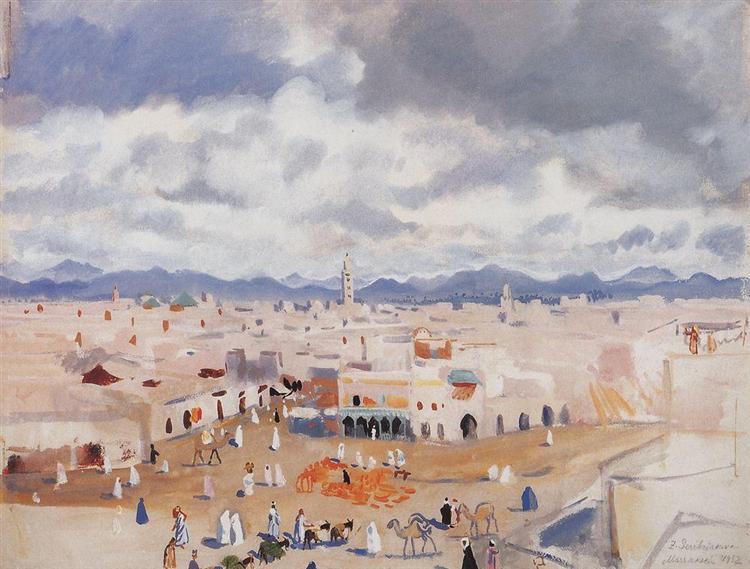 Morocco.Marrakesh, 1932 - Zinaida Serebriakova