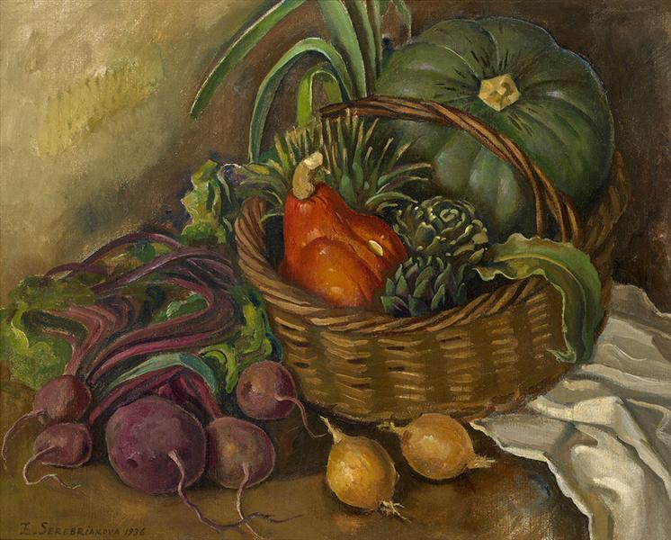 Still Life with Vegetables, 1936 - Zinaida Serebriakova